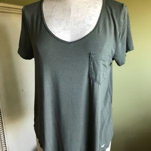Hollister green cotton t-shirt